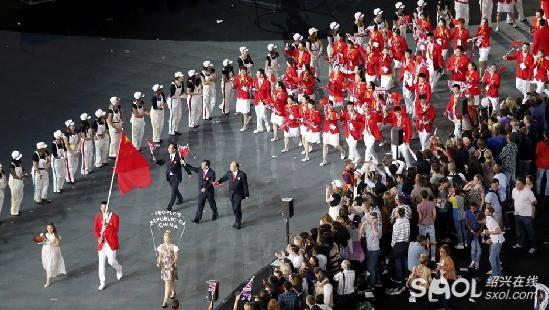 2012伦敦奥运开幕式,中国队入场.-2012伦敦奥运会 中国代表团入图片